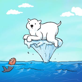 global warming threatens polar bears recycle!